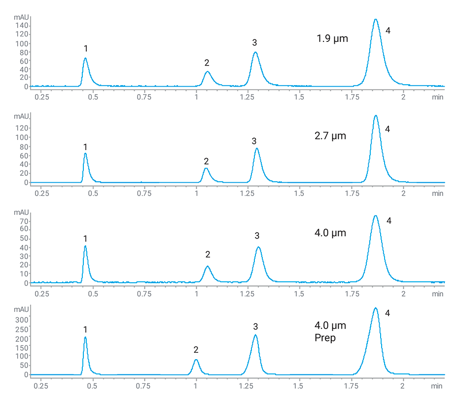 Scalability chromatogram