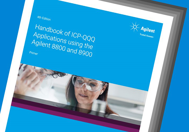 cover of the Agilent ICP-QQQ Applications handbook